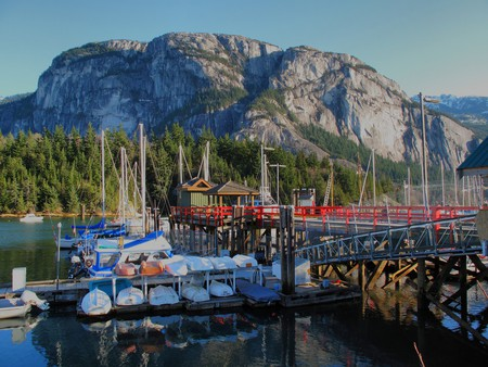 Stawamus Chief features one of the largest granite monoliths in the world