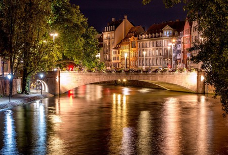 Strasbourg Bridges by Night ©Caroline Alexandre / Flickr