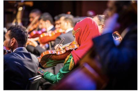 The Royal Oman Symphony Orchestra preforming at ROH Muscat