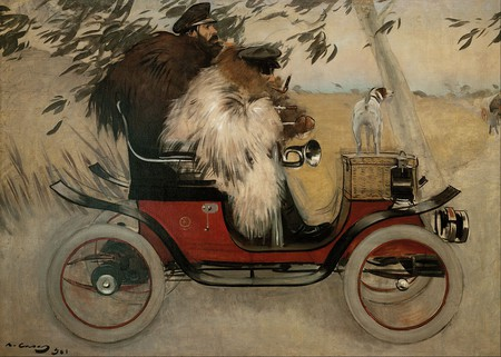 Ramon Casas and Pere Romeu in an Automobile CC0 Public Domain