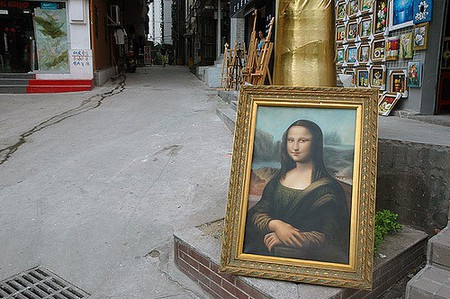 Da Vinci replica in Dafen (c) Michael Mandiberg / Flickr