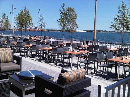 View of the lake from Against the Grain Urban Tavern   Courtesy of Against the Grain