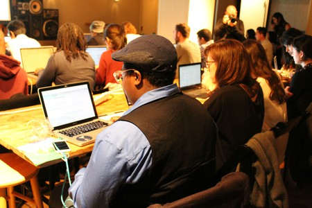 The cognitive coding class in New York   Courtesy of IBM