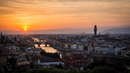 Florence Sunset from Piazzale Michelangelo, Maelick, Flikr