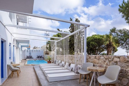 For a minimalist, sleek feel at a great price, book your stay at Loizos Stylish Residences on Santorini