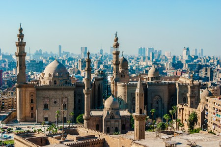 Mosque Madrassa of Sultan Hassan photo, panoramic view from fortress in Cairo | © Daria Volyanskaya/Shutterstock