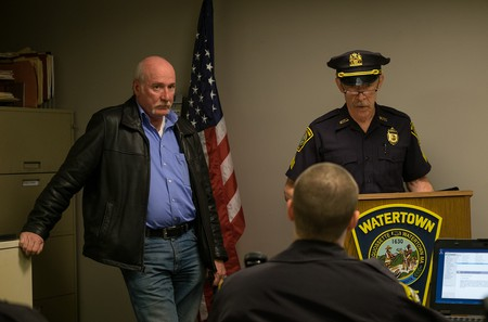 Sgt. Pugliese and J.K. Simmons on the set of 'Patriot's Day'   © Lionsgate Films UK