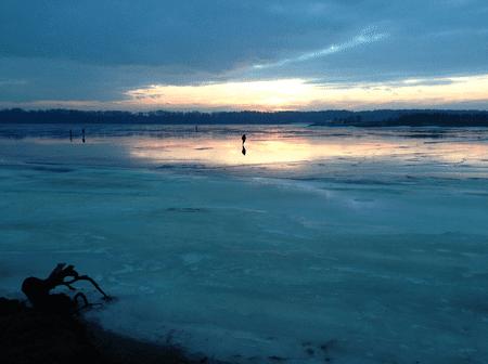 Frozen Kaunas Lagoon©Matteo Andreozzi/Wikimedia Commons