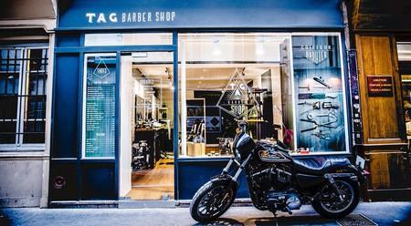 Shopfront and motorbike │ Courtesy of TAG Barbershop