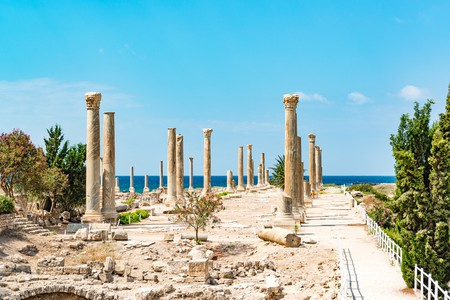 Al Mina archaeological site in Tyre, Lebanon. It is located about 80 km south of Beirut | © JPRichard/Shutterstock
