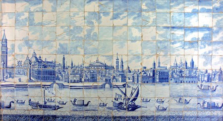 View of Venice created in Delftware tiles, commonly attributed to Cornelis Boumeester | © Frédéric Almaviva / WIkiCommons