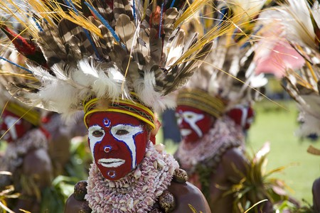 A bright painted face from the Goroka Show, Papua New Guinea | © Anselmo Lastra / Flickr