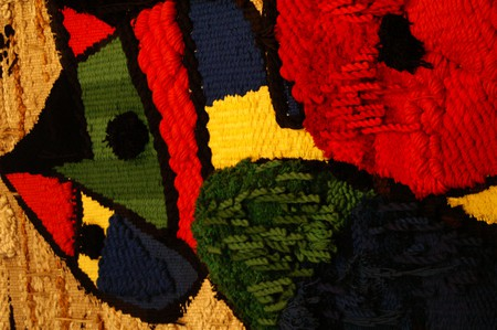 """Detail from """"Tapestry of the Foundation"""" by Joan Miró © David Merrett"""