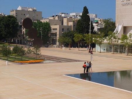 Tel Aviv's Habima Square (also called Culture Square)  © Meireliel, Wikipedia