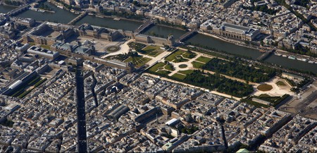 Aerial view of Louvre-Tuileries │© Matthias Kabel / Wikimedia Commons