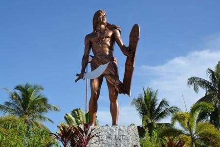 Statue of Datu Lapu Lapu, defender of the Philippines, in Cebu