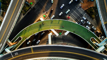 The Xiamen Bicycle Skyway in China is the world's longest elevated cycling path | © Dissing + Weitling