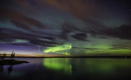 Northern Lights over Lake Tampere | © VisitFinland