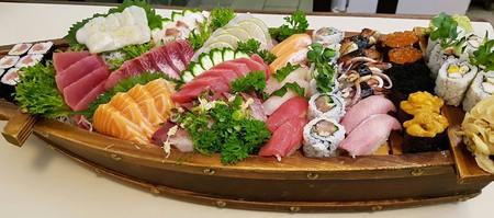 Sushi boat at Sendai Restaurant SP