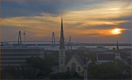 Sunrise over Charleston, South Carolina