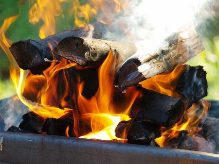 A typical South African braai fire is made using wood | © CoralBrowne/Wikimedia