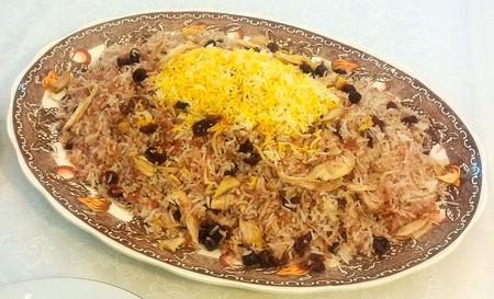 Âlbâloo polo is a sweet rice dish | © SaMin SAmIN / WikiCommons