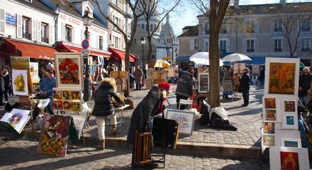 Place du Tertre in Montmartre, Paris.