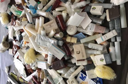 A year's worth of hotel toiletries set to be donated. | © Tina Sturdevant
