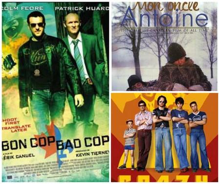 <i>Bon Cop, Bad Cop</i>, <i>Mon oncle Antoine</i>, and <i>C.R.A.Z.Y.</i>   Courtesy of Alliance Atlantis Vivafilm, National Film Board of Canada, and TVA Films