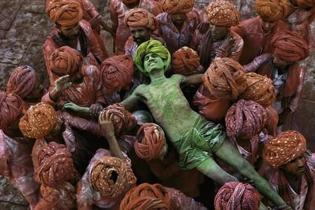 "Steve McCurry, ""Holi festival, Rajasthan, India"", 1996"