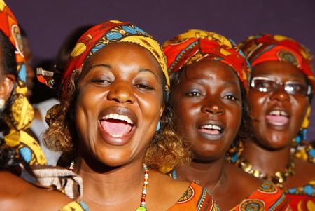 Wedding singers, Cameroon, Africa