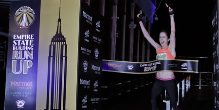 Suzy Walsham won the 40th Empire State Building Run Up in February   © Peter Foley/EPA/REX/Shutterstock