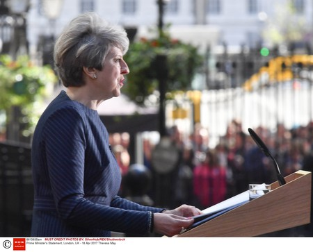 Prime Minister's Statement, London, UK (18 April) | Photo by Alan Davidson/SilverHub/REX/Shutterstock