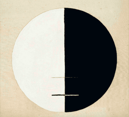 Hilma af Klint, Buddha's Standpoint in the Earthly Life, No. 3a