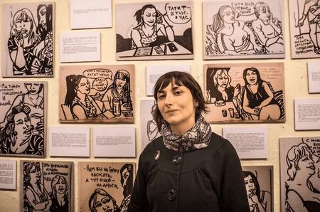 Victoria Lomasko at Fantagraphics in Seattle