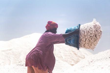 "A photo from Gil Miranda's ""Women of the Salt"" series on the largest salt mine in Senegal | Courtesy of Sebastian Gil Miranda"