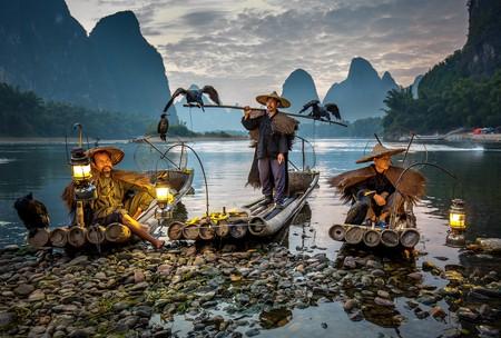 Cormorant fishermen on the Li River in Xing Ping    © Vadim Petrakov
