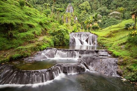Waterfall near the Santa Rosa Thermal Spa in Santa Rosa de Cabal in Colombia   © Danaan/Shutterstock