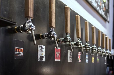 Craft beer selection at Tyris On Tap