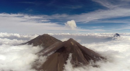 Volcán de Fuego (near with plume) | Courtesy of University of Bristol