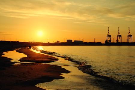 Sunset on the Stogi Beach at Baltic Sea. Gdansk, Poland   © ysuel/Shutterstock
