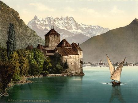 Chillon Castle circa 1890 | © SnapShotsofthePast/WikiCommons
