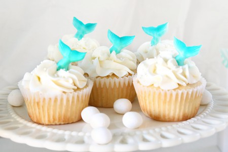 Mermaid-inspired cupcakes   © Elena Roussakis / Flickr