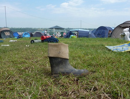 Wellies are an essential for British festival season