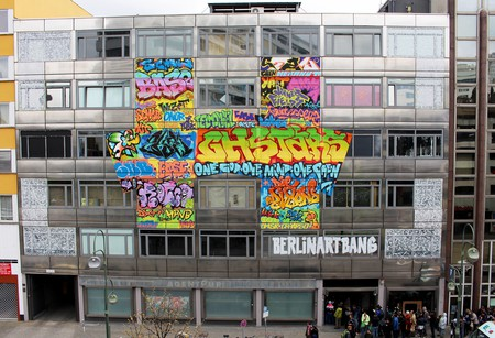 The outside of the Haus, a former bank building in Berlin | Courtesy of Art Bang/The Haus