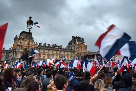 Macron rally at the Louvre | © Nikki Vargas