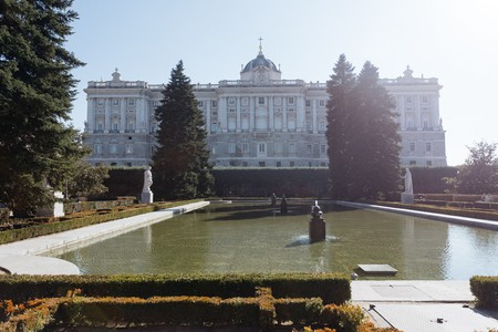 The Royal Palace seen from the Sabatini Gardens