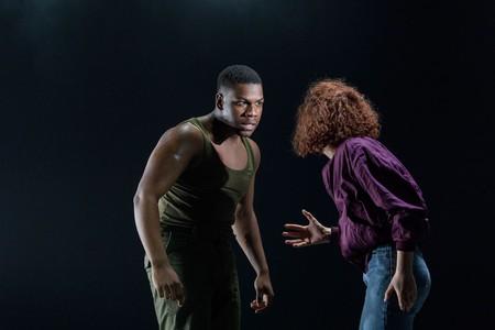 John Boyega as Woyzeck, with Sarah Greene as Marie | © Manuel Harlan / Old Vic