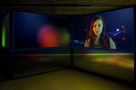 Lynne Marsh, Anna and the Tower (2014). 3 channel HD video installation, Toronto International Film Festival | Courtesy of Lynne Marsh/Tintype Gallery