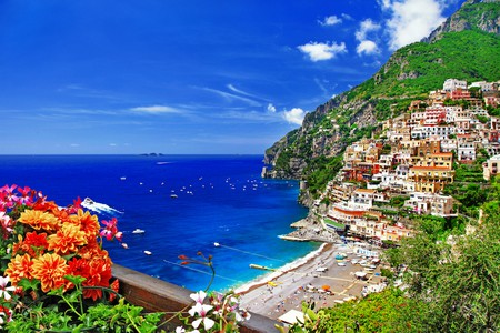 beautiful Positano. Coast of Amalfi, Italy   © leoks / shutterstock
